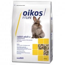 Oikos Rabbit Adult 2 Mantenimento Alimento Completo per Conigli