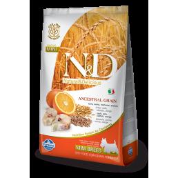 Farmina N&D Ancestral Low-Grain Adult con Merluzzo e Arancia per Cani di taglia grande