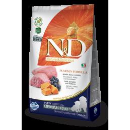 Farmina N&D Pumpkin Grain-Free Puppy Medium-Maxi Agnello e Mirtillo per Cani