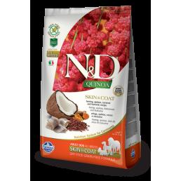 Farmina N&D Skin Coat con Aringa e Quinoa per Cani