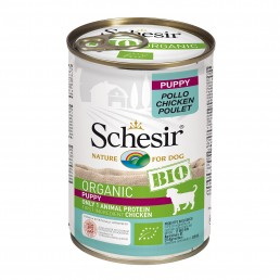 Schesir Dog BIO Organic con Puppy Pollo Umido in Lattina per Cuccioli